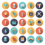 Flat design icons for energy Royalty Free Stock Photo