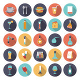 Flat design icons for food and drinks industry Royalty Free Stock Photography