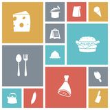 Flat design icons for food Stock Images