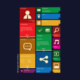 Flat design icons graphic user interface Royalty Free Stock Photos