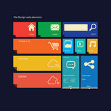 Flat design icons graphic user interface Royalty Free Stock Image