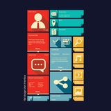 Flat design icons graphic user interface Royalty Free Stock Photography