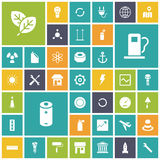 Flat design icons for industrial, energy and ecology. Vector illustration vector illustration