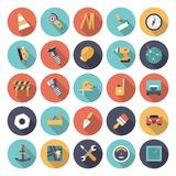 Flat design icons for industrial Royalty Free Stock Images