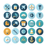 Flat design icons for industrial. Vector eps10 with transparency Stock Photography