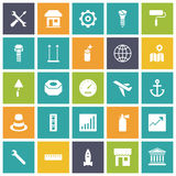 Flat design icons for industrial Stock Photos