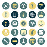 Flat design icons for industrial Royalty Free Stock Photos