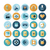 Flat design icons for leisure and entertainment Stock Images