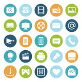 Flat design icons for media Royalty Free Stock Image
