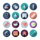 Flat Design Icons For Medical royalty free illustration