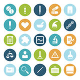 Flat design icons for medical science Stock Photo