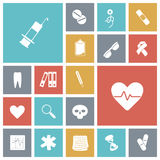 Flat design icons for medical Stock Images