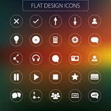 Flat design - icons pack. Simple line icons Set Royalty Free Stock Photography