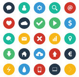 Flat design icons pack Stock Images