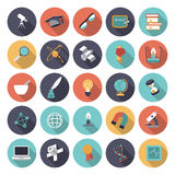 Flat design icons for science and education Royalty Free Stock Photography