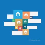 Flat design icons set for modern websites. Royalty Free Stock Images