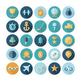 Flat design icons for sport and fitness Stock Photography