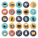 Flat design icons for technology and devices Stock Photos