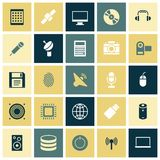 Flat design icons for technology and devices Stock Image