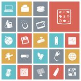 Flat design icons for technology and devices vector illustration