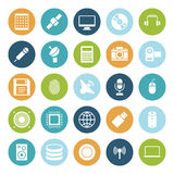 Flat design icons for technology and devices. Vector illustration Stock Photography