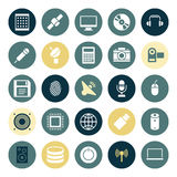 Flat design icons for technology and devices. Vector illustration Royalty Free Stock Photo