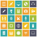 Flat design icons for technology and devices. Vector illustration Royalty Free Stock Image