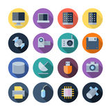 Flat Design Icons For Technology and Devices Royalty Free Stock Images