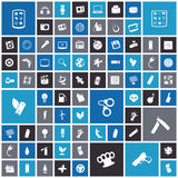 Flat design icons for technology and energy Stock Photos