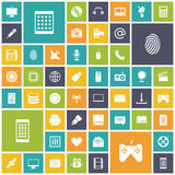 Flat design icons for technology and media. Vector illustration Royalty Free Stock Image