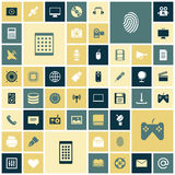 Flat design icons for technology and media. Vector illustration Stock Photo