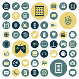 Flat design icons for technology and media. Vector illustration Stock Images