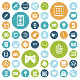 Flat design icons for technology and media. Vector illustration Royalty Free Stock Photo