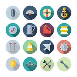 Flat Design Icons For Transportation Stock Photos