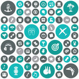 Flat design icons for travel, leisure and music Royalty Free Stock Photos