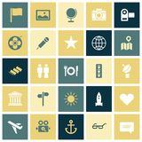 Flat design icons for travel and leisure Royalty Free Stock Images
