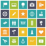 Flat design icons for travel and leisure Royalty Free Stock Photos