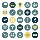 Flat design icons for travel and leisure Stock Images