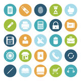 Flat design icons for user interface. Vector illustration Stock Images