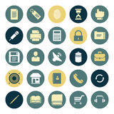 Flat design icons for user interface Stock Photo