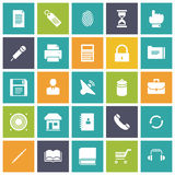 Flat design icons for user interface. Vector illustration Stock Photos