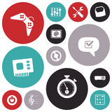 Flat design icons for user interface Royalty Free Stock Images