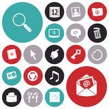 Flat design icons for user interface Stock Image
