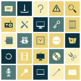 Flat design icons for user interface Royalty Free Stock Image