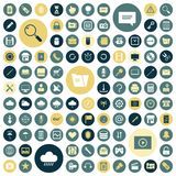 Flat design icons for user interface. Vector illustration Royalty Free Stock Images