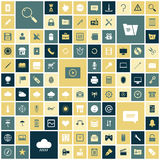 Flat design icons for user interface. Vector illustration Royalty Free Stock Photos