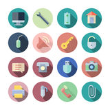 Flat Design Icons For User Interface Stock Images