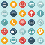 Flat Design Icons - Web, Mobile, App - vector EPS10. Flat design icons for web, mobile, apps etc Stock Photos