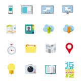 Flat design icons for web and mobile applications Royalty Free Stock Image