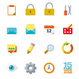 Flat design icons for web and mobile applications Stock Images